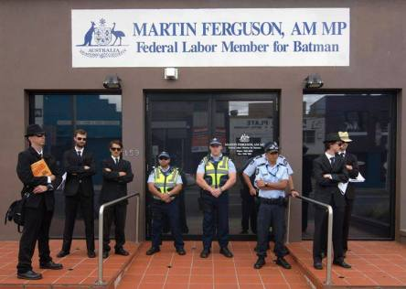 Quit Coal spies visit Federal Energy Minister http://quitcoal.org.au/big-brother-ferguson-is-watching/