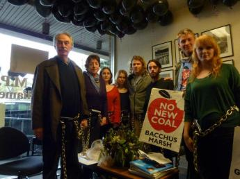 Lock-on in Premier Ted Baillieu's Electorate Office, June 2012 http://quitcoal.org.au/quit-coal-kids-and-their-parents-lock-on-in-baillieus-electoral-office/