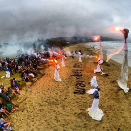 Coal Requiem link: http://climacts.org.au/climate-guardians-actions-2/about/ Climate Guardians officially opening the Lorne Sculpture Biennale 2014 http://www.lornesculpture.com/ with a 'Coal Requiem' performance.